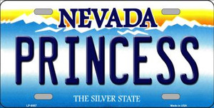 Princess Nevada Background Novelty Wholesale Metal License Plate