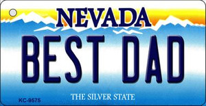 Best Dad Nevada Background Wholesale Novelty Key Chain
