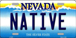 Native Nevada Background Novelty Wholesale Metal License Plate
