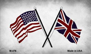 USA Britain Cross Flags Wholesale Novelty Metal Magnet