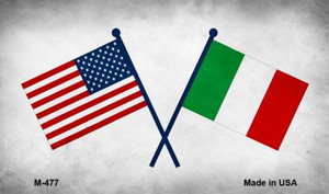 USA Italy Cross Flags Wholesale Novelty Metal Magnet