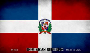 Dominican Republic Flag Wholesale Novelty Metal Magnet