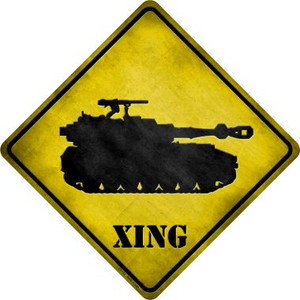 Tank Xing Wholesale Novelty Metal Crossing Sign