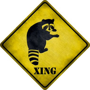 Raccoon Xing Wholesale Novelty Metal Crossing Sign