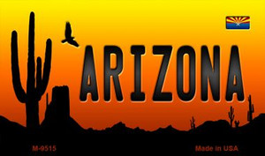 Arizona Scenic Background Wholesale Novelty Metal Magnet
