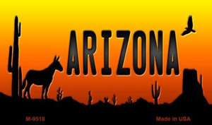 Donkey Arizona Scenic Background Wholesale Novelty Metal Magnet