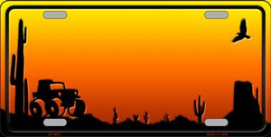 Jeep Blank Scenic Background Novelty Wholesale Metal License Plate