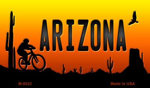 Biker Arizona Scenic Background Wholesale Novelty Metal Magnet