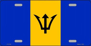 Barbados Flag Wholesale Metal Novelty License Plate