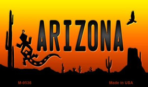 Lizard Arizona Scenic Background Wholesale Novelty Metal Magnet