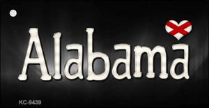 Alabama Flag Script Wholesale Novelty Key Chain