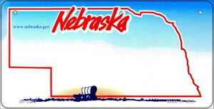 Nebraska Novelty State Background Bicycle License Plate