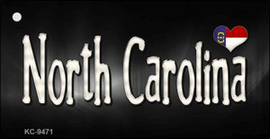 North Carolina Flag Script Wholesale Novelty Key Chain