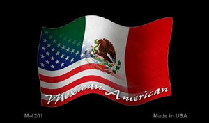 Mexican American Flag Wholesale Novelty Metal Magnet