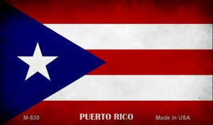 Puerto Rico Flag Wholesale Novelty Metal Magnet