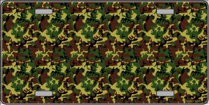 Camouflage Wholesale Metal Novelty License Plate