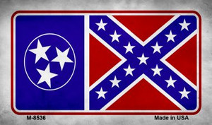 Tennessee Confederate Flag Wholesale Novelty Metal Magnet