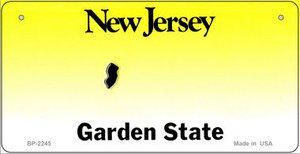 New Jersey Novelty State Bicycle License Plate