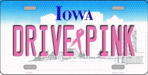 Drive Pink Iowa Novelty Wholesale Metal License Plate