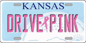 Drive Pink Kansas Novelty Wholesale Metal License Plate