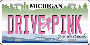 Drive Pink Michigan Novelty Wholesale Metal License Plate
