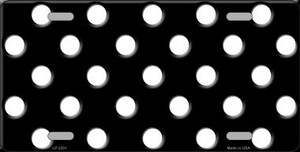 White Polka Dots Black Wholesale Metal Novelty License Plate