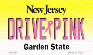 Drive Pink New Jersey Wholesale Novelty Metal Magnet