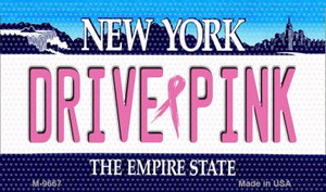 Drive Pink New York Wholesale Novelty Metal Magnet
