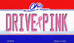 Drive Pink Ohio Wholesale Novelty Metal Magnet