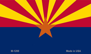 Arizona State Flag  Wholesale Novelty Metal Magnet M-1288