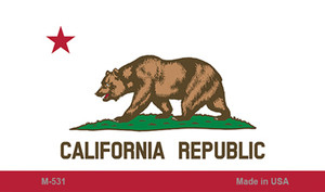 California State Flag  Wholesale Novelty Metal Magnet M-531