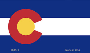 Colorado State Flag  Wholesale Novelty Metal Magnet M-3571