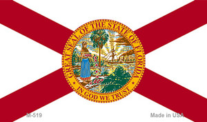 Florida State Flag  Wholesale Novelty Metal Magnet M-519