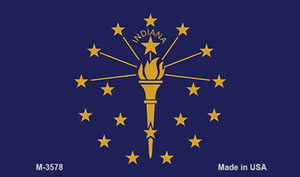 Indiana State Flag Wholesale Novelty Metal Magnet M-3578