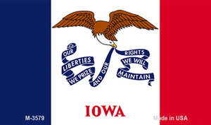 Iowa State Flag Wholesale Novelty Metal Magnet M-3579