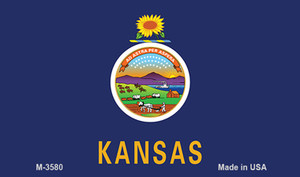 Kansas State Flag Wholesale Novelty Metal Magnet M-3580