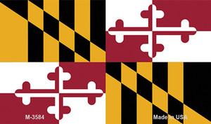 Maryland State Flag Wholesale Novelty Metal Magnet M-3584