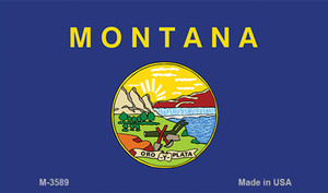 Montana State Flag Wholesale Novelty Metal Magnet M-3589