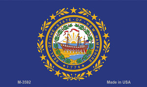 New Hampshire State Flag Wholesale Novelty Metal Magnet M-3592
