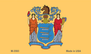 New Jersey State Flag Wholesale Novelty Metal Magnet M-3593