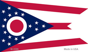 Ohio State Flag Wholesale Novelty Metal Magnet M-3596
