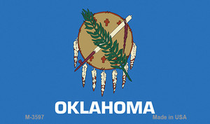Oklahoma State Flag Wholesale Novelty Metal Magnet M-3597