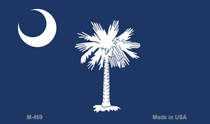 South Carolina State Flag Wholesale Novelty Metal Magnet M-469