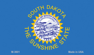 South Dakota State Flag Wholesale Novelty Metal Magnet M-3601