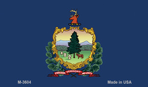 Vermont State Flag Wholesale Novelty Metal Magnet M-3604