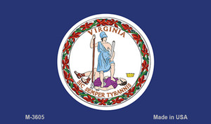 Virginia State Flag Wholesale Novelty Metal Magnet M-3605