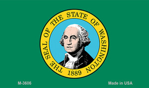 Washington State Flag Wholesale Novelty Metal Magnet M-3606