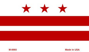 Washington DC Flag Wholesale Novelty Metal Magnet