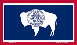 Wyoming State Flag Wholesale Novelty Metal Magnet M-3609