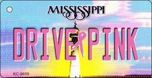 Drive Pink Mississippi Wholesale Novelty Key Chain
